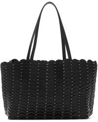 Paco Rabanne Iconic 1969 Leather Shopper - Black