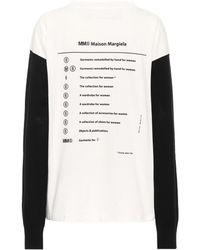 MM6 by Maison Martin Margiela Bedruckter Pullover - Weiß