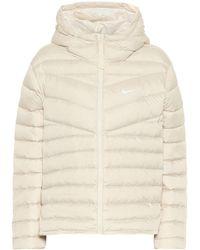 Nike Hooded Down Jacket - Natural