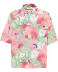 Plan C Floral-printed Shirt - Multicolor
