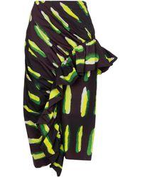 Dries Van Noten - Printed Cotton Midi Skirt - Lyst