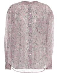 Étoile Isabel Marant Camicia Mexika a stampa in cotone - Rosa