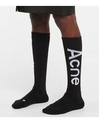 Acne Studios Socken aus einem Baumwollgemisch - Schwarz