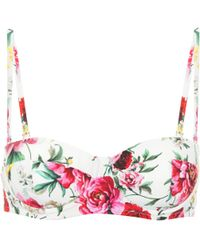 Dolce & Gabbana Bedrucktes Bikini-Oberteil - Mehrfarbig