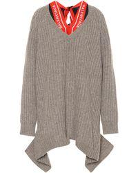 Balenciaga Jersey con pañuelo y escote en V - Neutro