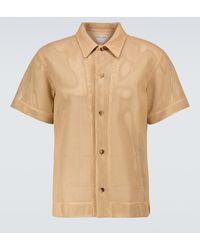 Bottega Veneta Kurzarmhemd aus Leder - Natur