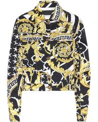 Versace Savage Barocco Denim Jacket - Multicolour