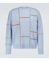 JW Anderson Jersey de lana y cachemir - Azul