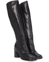 Maison Margiela Stiefel Tabi aus Leder - Schwarz