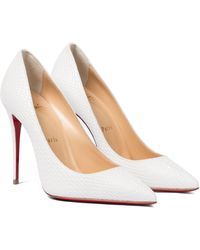 Christian Louboutin - Kate 100 Snake-effect Leather Pumps - Lyst