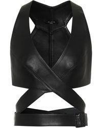 Alaïa Édition 1984 – Top en cuir - Noir