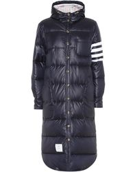 Thom Browne Down Puffer Coat - Blue