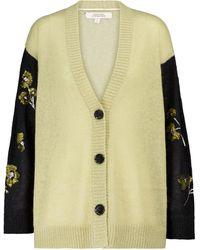 Dorothee Schumacher Fluffy Flora Sequined Mohair-blend Cardigan - Green