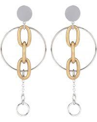 Miu Miu - Clip-on Drop Hoop Earrings - Lyst