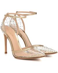 Gianvito Rossi Leather-trimmed Pvc Court Shoes - Multicolour