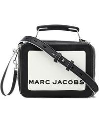 Marc Jacobs Sac à bandoulière The Mini Box en cuir - Blanc