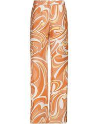 Emilio Pucci Bedruckte High-Rise-Hose - Orange
