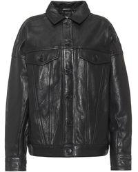 J Brand Drew Leather Jacket - Black