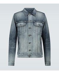 Balmain Veste en jean à logo - Bleu