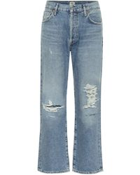 Citizens of Humanity Emery High-rise Cropped Jeans - Blue