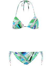 Emilio Pucci Printed Bikini - Green