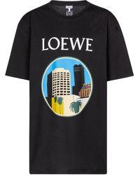 Loewe X Ken Price Printed Cotton T-shirt - Black