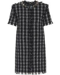 MSGM Cotton-blend Tweed Dress - Black