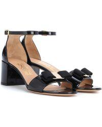 Ferragamo - Women's Gavina Ankle Strap Block Heel Sandals - Lyst