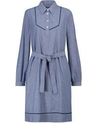 A.P.C. Robe chemise Maeve en coton - Bleu