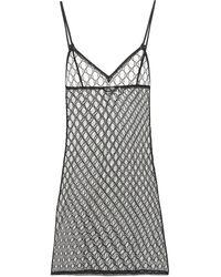 Gucci GG Tulle Lingerie Minidress - Black