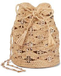 Paco Rabanne Rabanne Small Raffia Bucket Bag - Natural