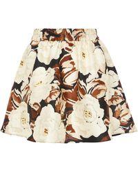 Sir. The Label Vivienne Silk Miniskirt - Brown