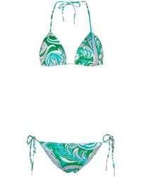 Emilio Pucci Bedrucktes Bikini - Grün
