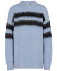Acne Studios Pullover in misto alpaca e lana - Blu