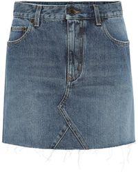 Saint Laurent Denim Miniskirt - Blue