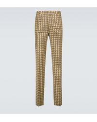 Fendi Pantaloni slim FF - Multicolore