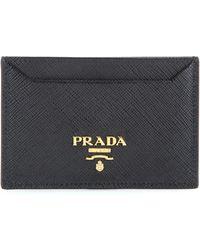 Prada | Saffiano Leather Card Holder | Lyst