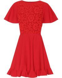 Valentino - Lace-paneled Minidress - Lyst