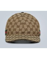 Gucci - Cappello da baseball GG con Web - Lyst