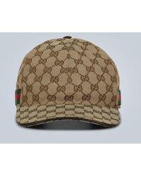 Gucci - Gorra de béisbol GG de lona - Lyst