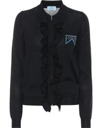 Prada - Jacke aus Wolle und Seide - Lyst