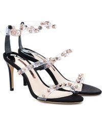 Sophia Webster Rosalind Crystal-embellished Sandals - Black