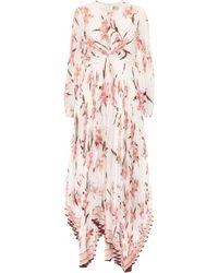 Zimmermann Corsage Floral Maxi Dress - Pink