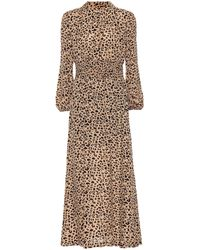 Baum und Pferdgarten Amber Leopard-print Maxi Dress - Natural