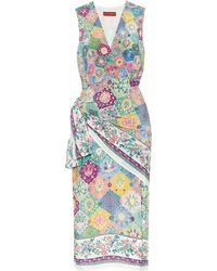 Altuzarra Sade Printed Silk Wrap Dress - Multicolour