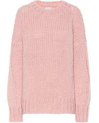 Dries Van Noten Wool And Mohair Sweater - Pink