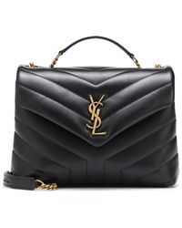 Saint Laurent Loulou Small Leather Shoulder Bag - Black