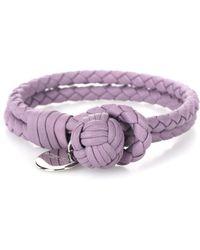 Bottega Veneta - Knot Intrecciato Leather Bracelet - Lyst