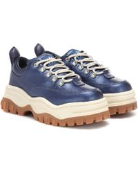 Eytys Angel Platform Twill Sneakers - Blue