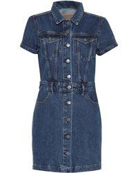 GRLFRND Max Denim Mini Dress - Blue